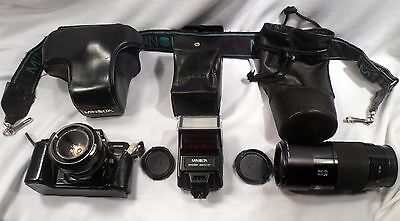 Minolta 7000 Maxxum AF Camera, Lens, Flash, Case, Documentation & Accessories