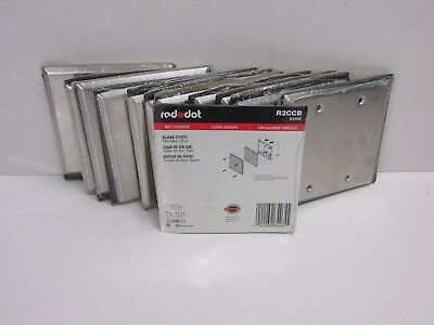 LOT of (12) RED DOT 2-GANG MILL FINISH BLANK WALL PLATE, R2CCB WET LOCATION