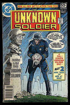 Unknown Soldier (1977) #219 1st print Early Frank MIller Mark Jewelers Insert VG