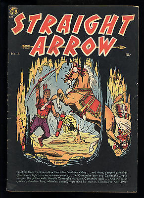 Straight Arrow (1950) #4 1st print Fred Meagher Secret Cave Cover Bob Powell VG-