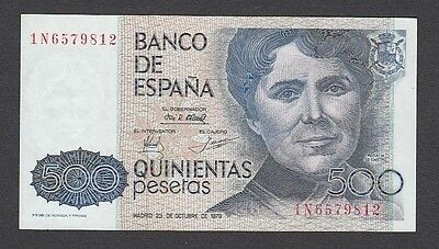 500 Pesetas From Spain 1979 A1 Unc