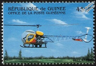 BELL Model 47 Multipurpose Light Helicopter Aircraft Stamp