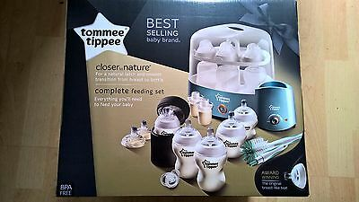 Tommee Tippee Closer to Nature Complete Feeding Set - Blue (Sealed)