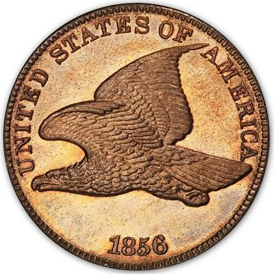 1856 1C Flying Eagle Cent PCGS PR64 (CAC)