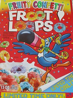 Kellogg's  FRUITY CONFETTI FROOT LOOPS Limited Ed. 1998 VINTAGE CEREAL BOX