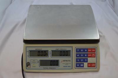 Detecto DS30 Price Computing Scale Deli Bakery Fish Candy Coffee 30 lb x .01 lb