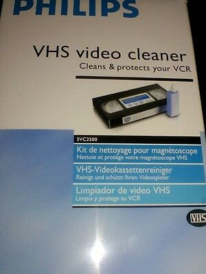 Philips VHS Video Head Cleaner Cassette