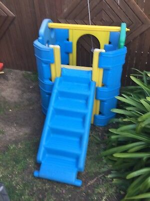 Plastic Activity Gym Slide Steps Tough Strong Fun Outdoor