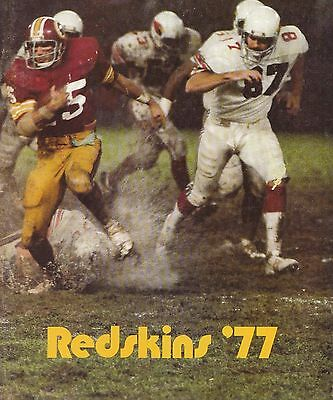 Washington Redskins 1977 Official NFL Football Yearbook Program Magazine Rare