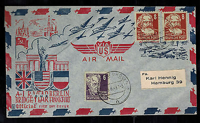 1949 East Berlin Germany one Year Air Bridge Airlift First DAy Cover