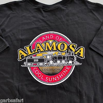 Denver Rio Grande Train Alamosa CO T-Shirt XL Friends Steam Locomotive Railroad