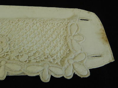 Antique Victorian handmade Linen Ladies Collar with handmade buttonholes #002