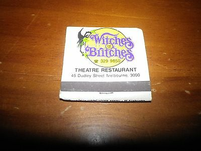 Vintage Witches In Britches, Melbourne, Victoria Matchbox.