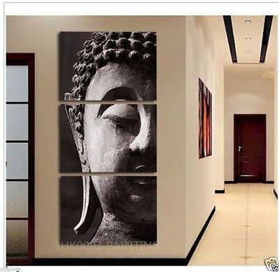 Modern abstract hand-painted oil painting decorative religious Buddha(Unframed)