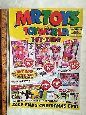 1990 Mr Toys Catalogue Spawn Figures Mighty Max Polly Pocket Nes Ps1 Sega Games!
