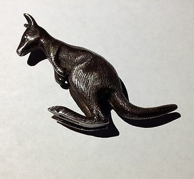 Antique William Drummond & Co Pure Australian Silver KANGAROO Figure RARE!