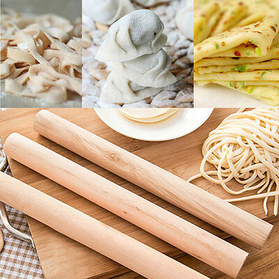 1x Solid Wood Rolling Pin Dumpling Wrapper Noodle Dough Roller Device Chef Acc