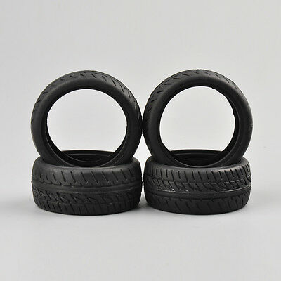 4X 1:10 Rubber Racing Tyres Tires PP0150 For Model On-Road Car HSP HPI