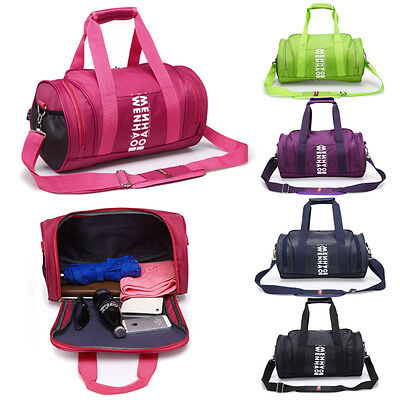 New Women Men Sports & Gym Holdall Bag Training Travel Duffle Shoulder Handbag