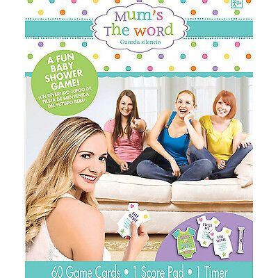 Baby Shower Party Game Mums the Word Baby Shower Word Guessing Game