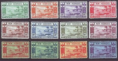 New Hebrides British 1938 SC 50-61 MH Set