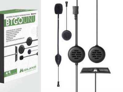 Interphone Midland Bt Go Uni Plug&Play Intercom Bluetooth X Casco Moto Integrale