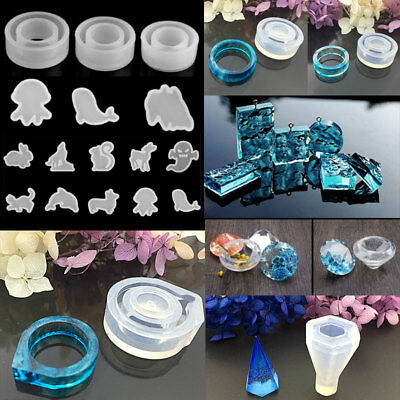 Clear Silicone Pendant Mold DIY Jewelry Making Mould Casting Craft Tool CatShape