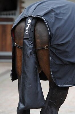 BUCAS PADDED tail PROTECTOR WITH BAG - BLACK OR NAVY horse pony tail guard