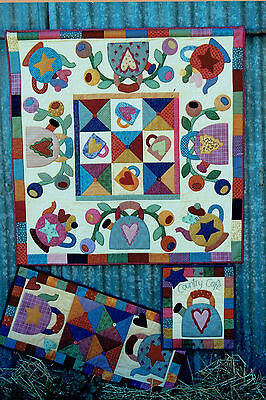 Applique / Patchwork Wallhanging ~ Country Cafe`