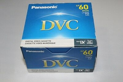 Panasonic DVC 60 mini DV Tapes 5 Pack