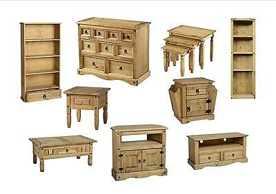 Seconique Corona Living Room Furniture  Solid Pine  Table TV Cabinet Chest Unit