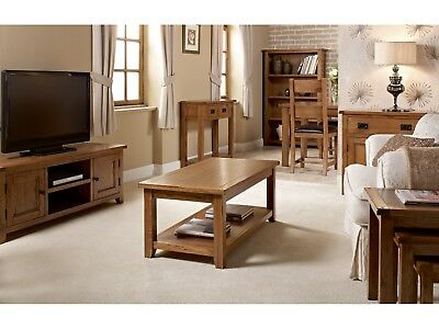 Dorset White Oak Living Room Furniture - TV Stand Table Chairs Storage Solid Oak