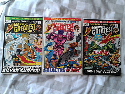 Fantastic Four 48,49,50 1st Silver Surfer, Galactus Jack Kirby art, affordable