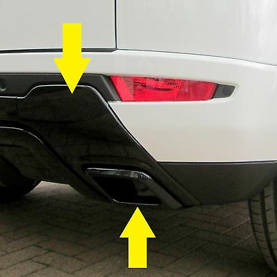 Black Rear bumper RH Tow eye cover for Range Rover Evoque dynamic exhaust O/S
