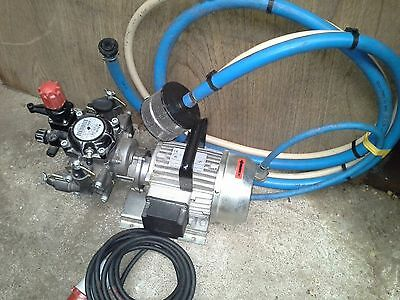 Comet Fluid Pump Mc 20/20 Industrial 3 Phase Pump With Hoses Old Stock To Clear