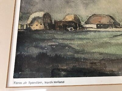 Original Framed Watercolour Nan Platvoet Dutch Artist Ilpendam Holland