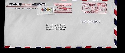 Braniff International Airways Boeing 707 El Dorado Jet 6-1-60 First Flight Cover
