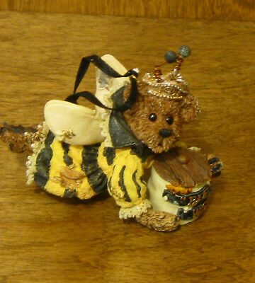 Boyds Resin Ornaments #25715 Sage Buzzby...Bee  Wise, New/Box From Retail Store