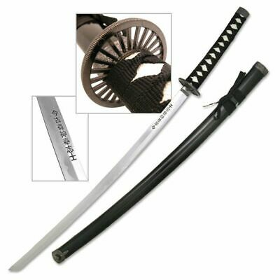 """NEW! 39.5"""" Overall Hand Forged Black Carbon Steel Japanese Samurai Sword"""
