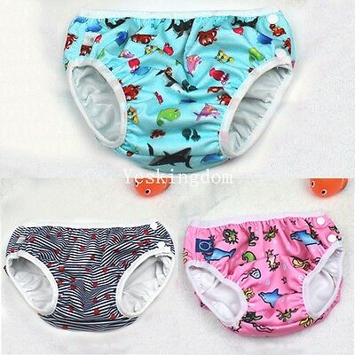 Swim Nappy Diaper Leakproof Reusable Baby Infant Boys Girls Toddler Pants