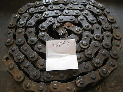 "REX 100H-2R Roller Chain, 10'Length x 1-1/4""Pitch  LOT#2"
