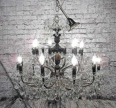 Antique Chandelier Empire Grand 24 Light Bronze Fixture Pendant FREE SHIPPING