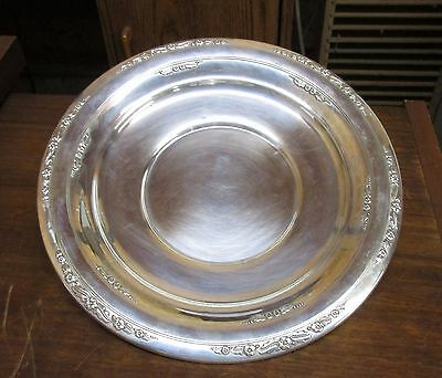 "International Courtship Sterling Silver 10"" Sandwich Plate H280"