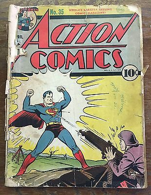 DC ACTION COMICS #35 1941 .5 Comic Book Superman