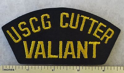 Uscg Cutter Valiant - Us Coast Guard Cutter Wmec-621 Hat / Cap Patch (1967+)