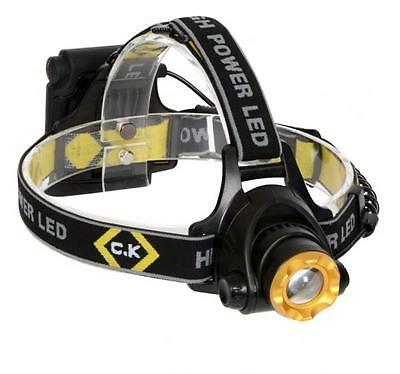 CK C.K Led Head Torch Light 200 Lumens Features 3 Modes Headtorch T9620