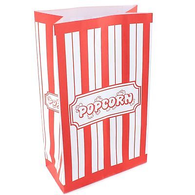Popcorn Movie Night Carnival Circus Party Supplies Paper Bags (Pack Of 10)