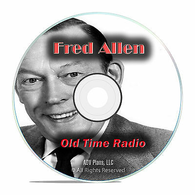 Fred Allen, Music, Comedy, with bonus 849 Old Time Radio Show, OTR mp3 DVD G44
