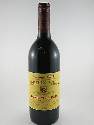 Tyrrells Wine Long Flat Red 1987 Vintage Perfect 30th Birthday Gift This Year