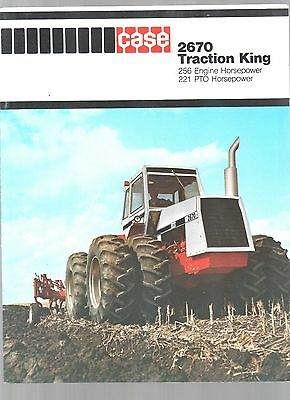 Vintage 1978 Case 4X4 4 Wheel Drive 2670 Traction King Tractor Brochure